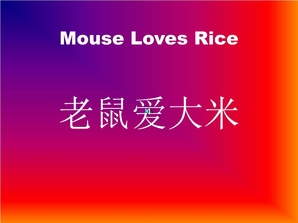 Mouse Loves Rice