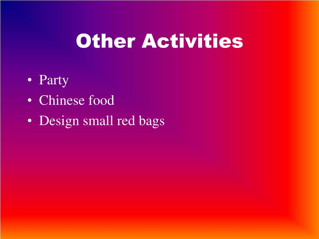 Other Activities