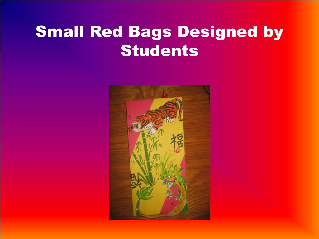 Small Red Bags Designed by Students