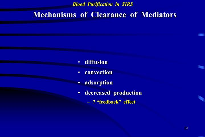 Mechanisms  of  Clearance