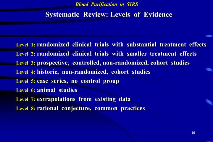Systematic  Review: Levels  of  Evidence