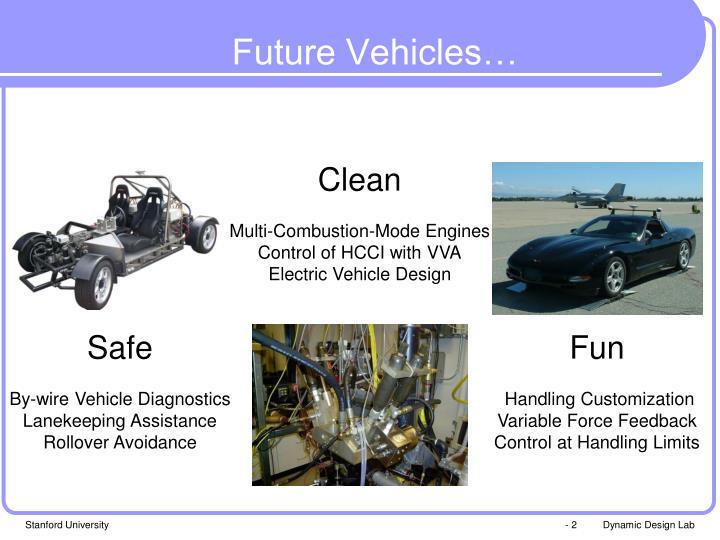 Future Vehicles…