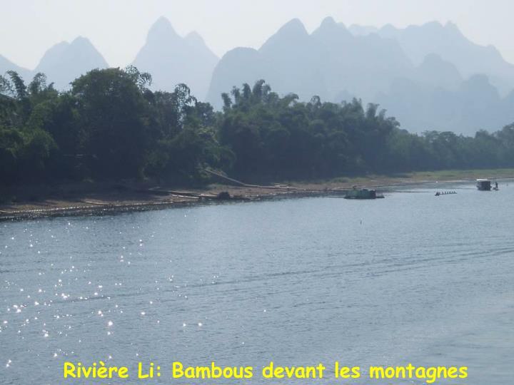 Rivière Li: Bambous devant les montagnes