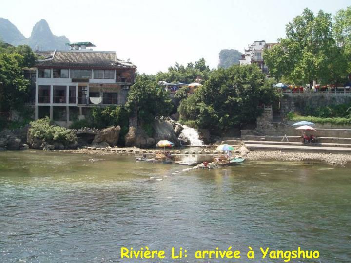 Rivière Li: arrivée à Yangshuo
