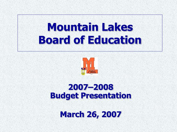 Mountain lakes board of education