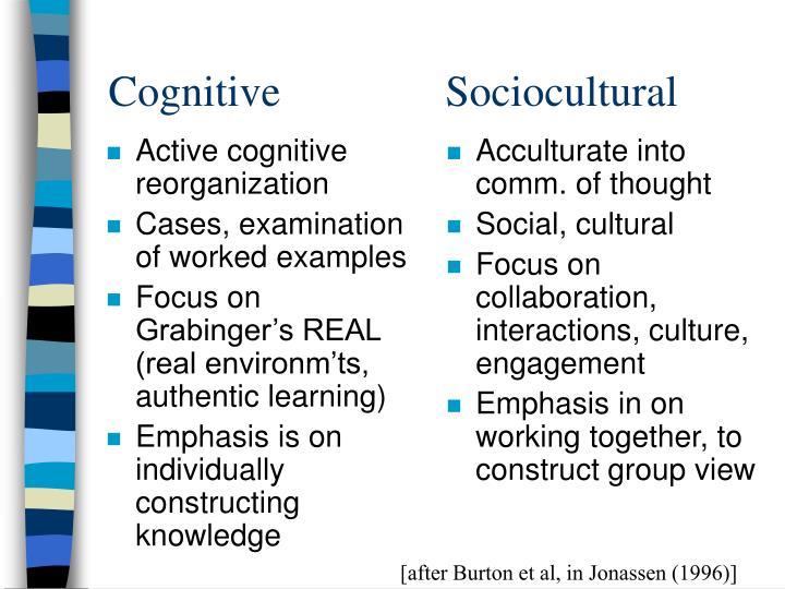 Active cognitive reorganization