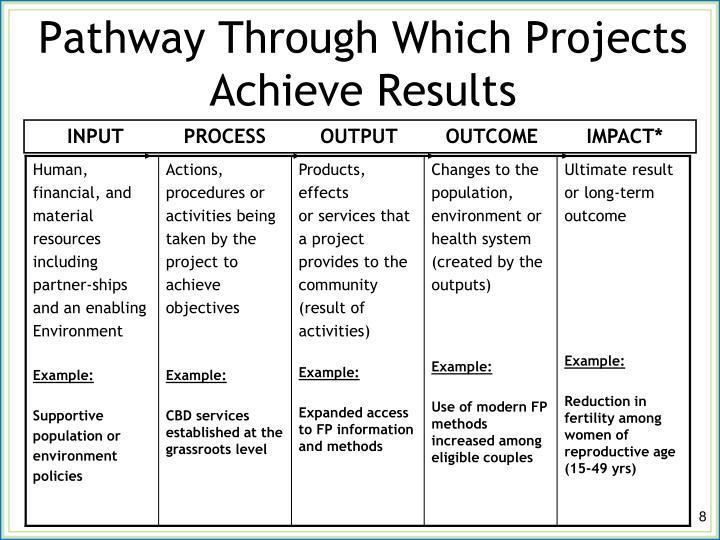 Pathway Through Which Projects Achieve Results