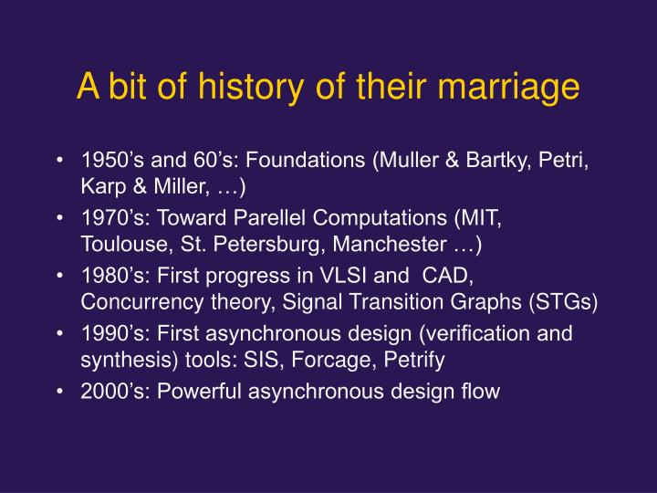 A bit of history of their marriage