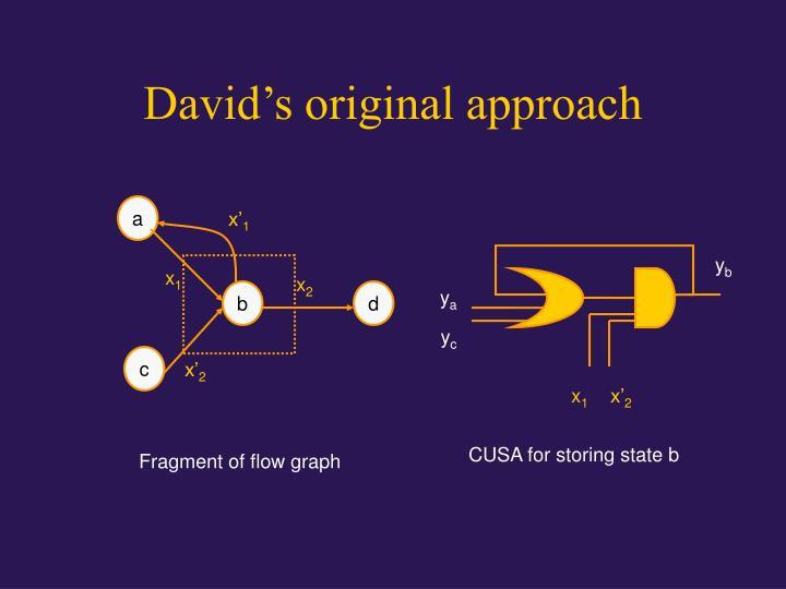 David's original approach