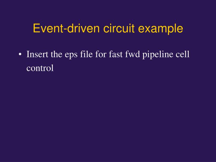 Event-driven circuit example