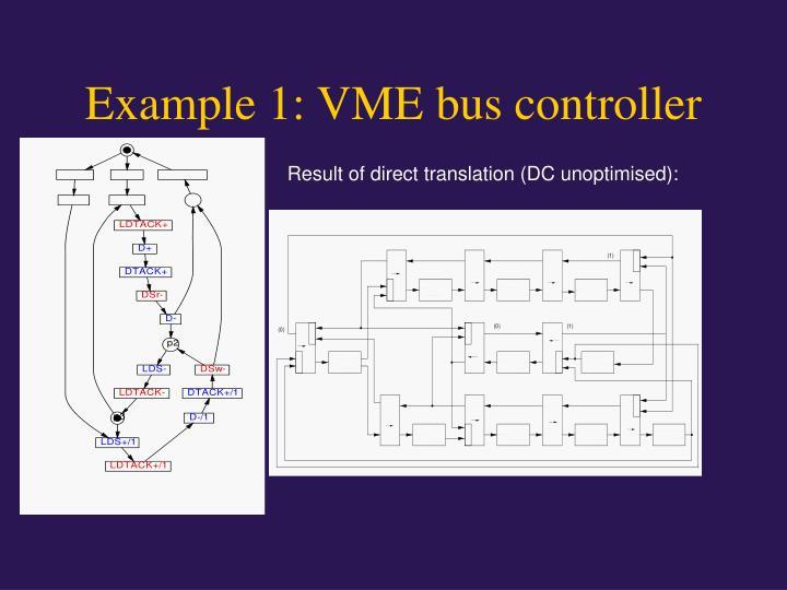 Example 1: VME bus controller