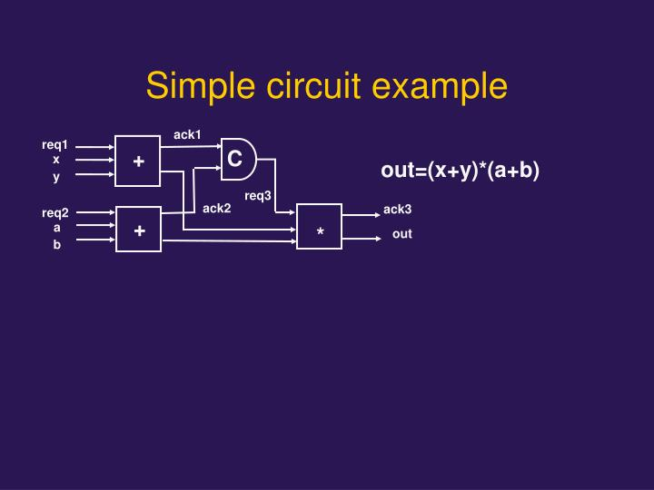 Simple circuit example