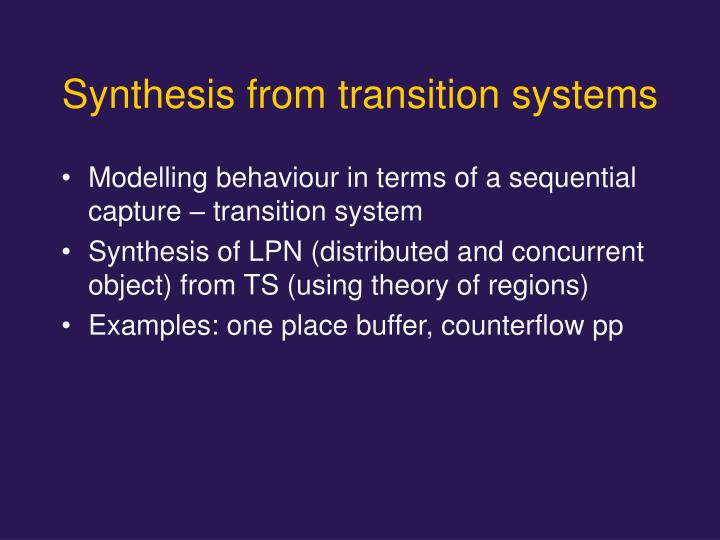 Synthesis from transition systems