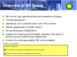 overview of bp group