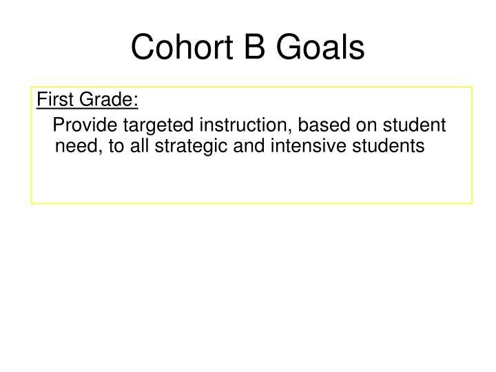 Cohort B Goals