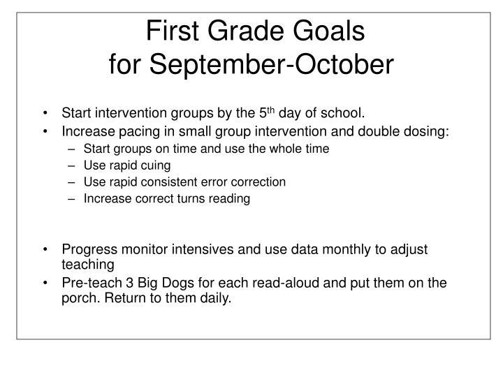 First Grade Goals