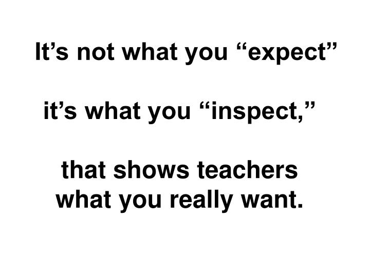 "It's not what you ""expect"""