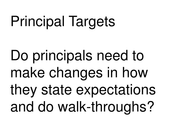 Principal Targets