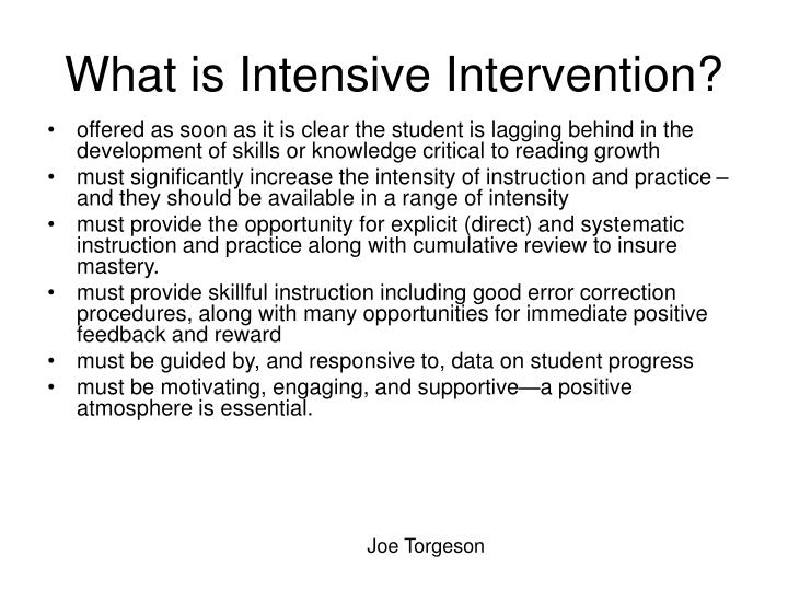 What is Intensive Intervention?