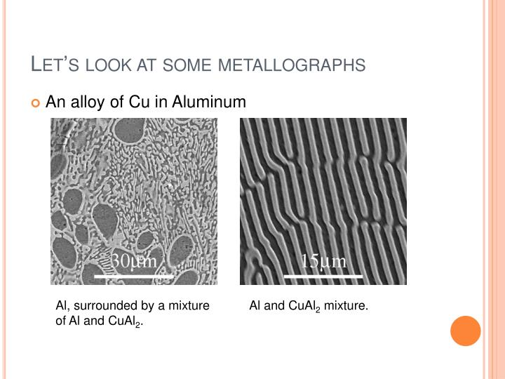 Let s look at some metallographs