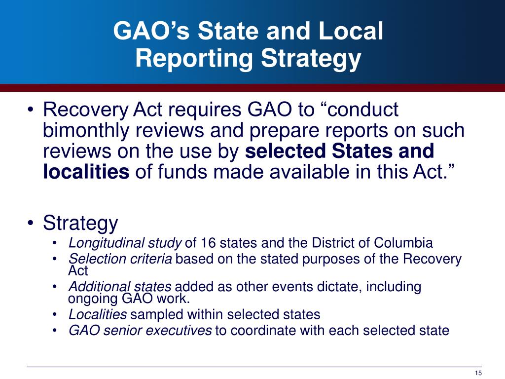 GAO's State and Local