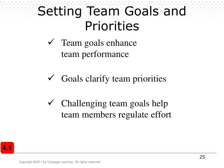 Setting Team Goals and Priorities