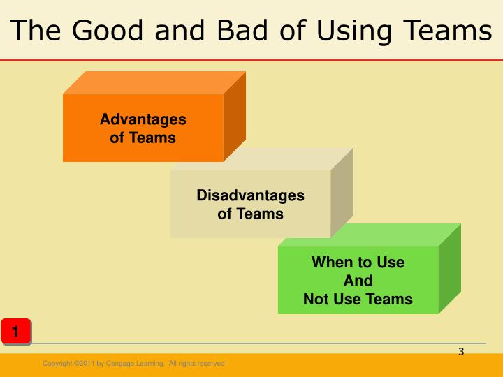 The good and bad of using teams