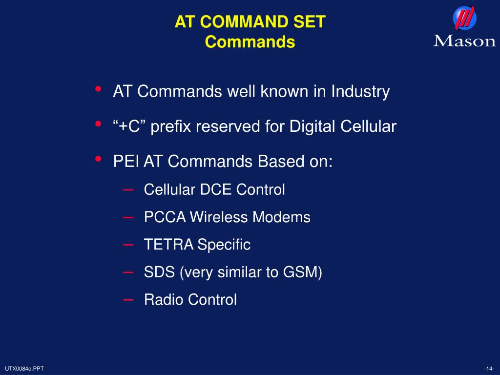 AT COMMAND SET