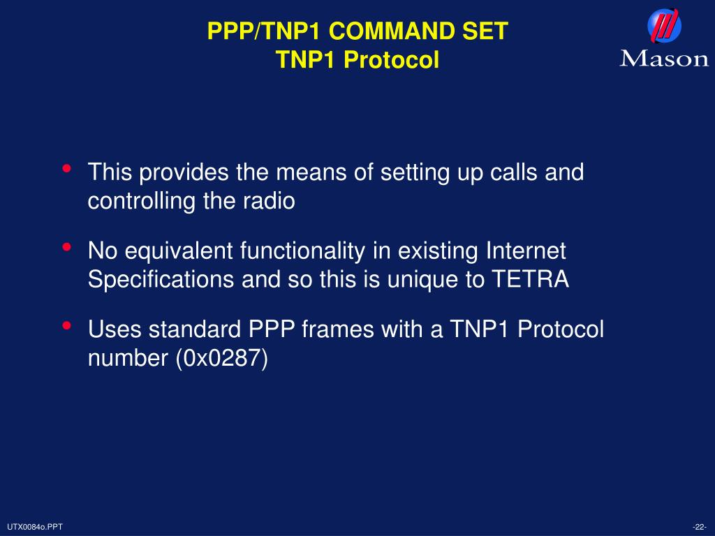 PPP/TNP1 COMMAND SET