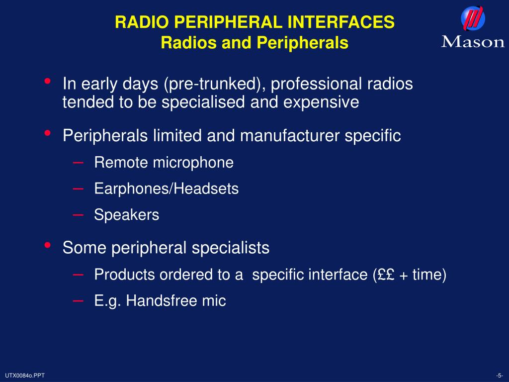 RADIO PERIPHERAL INTERFACES