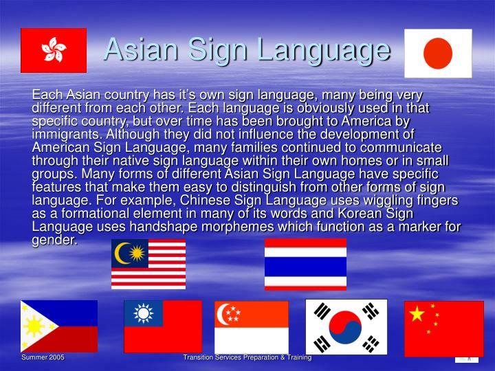 Asian Sign Language