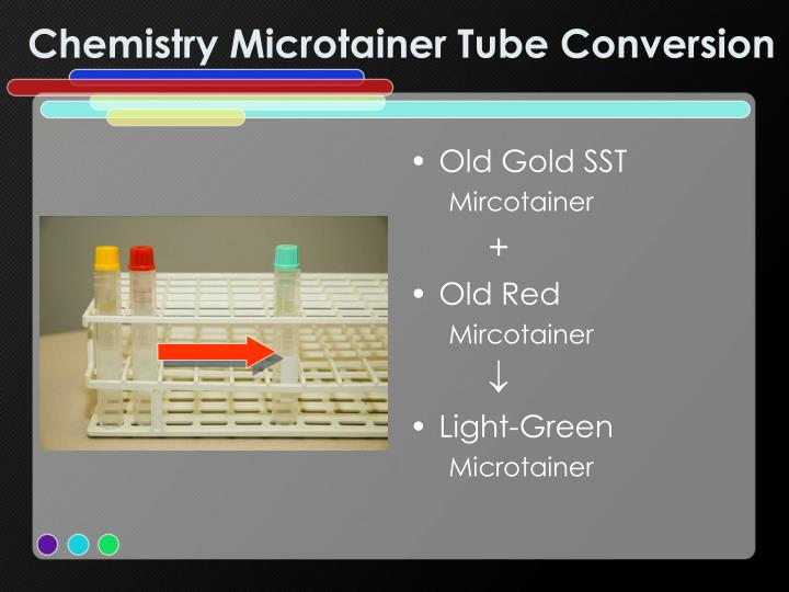 Chemistry Microtainer Tube Conversion