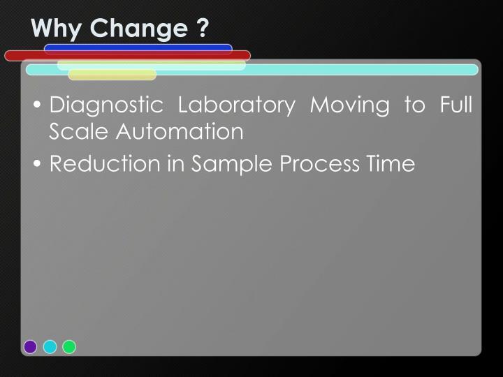 Why Change ?