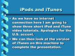 ipods and itunes
