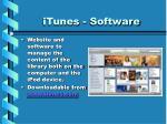 itunes software