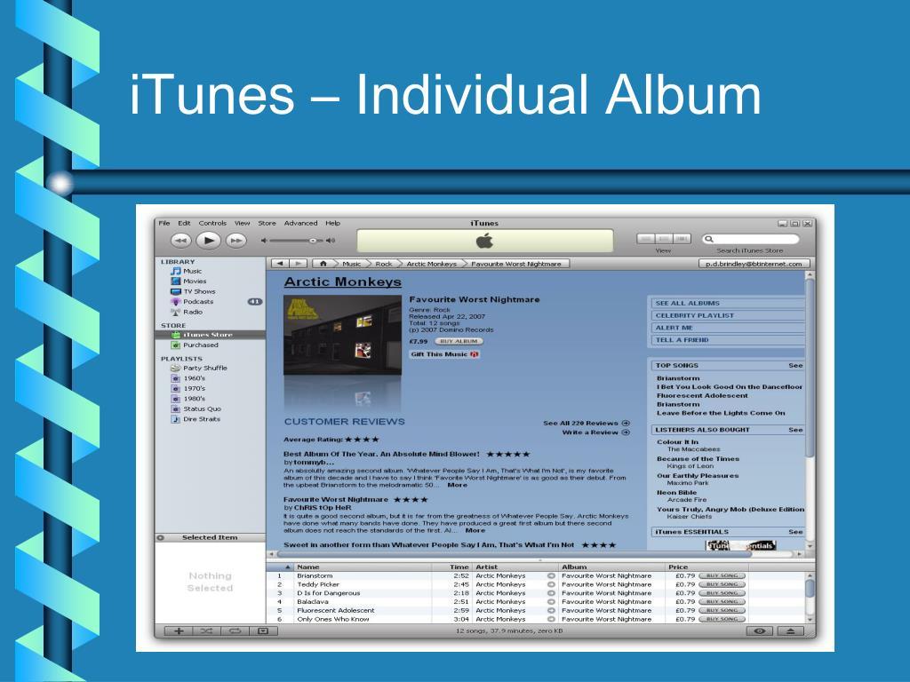 iTunes – Individual Album