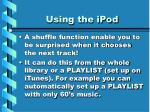 using the ipod21