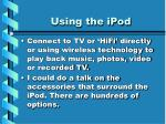 using the ipod22