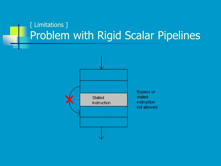 Limitations problem with rigid scalar pipelines