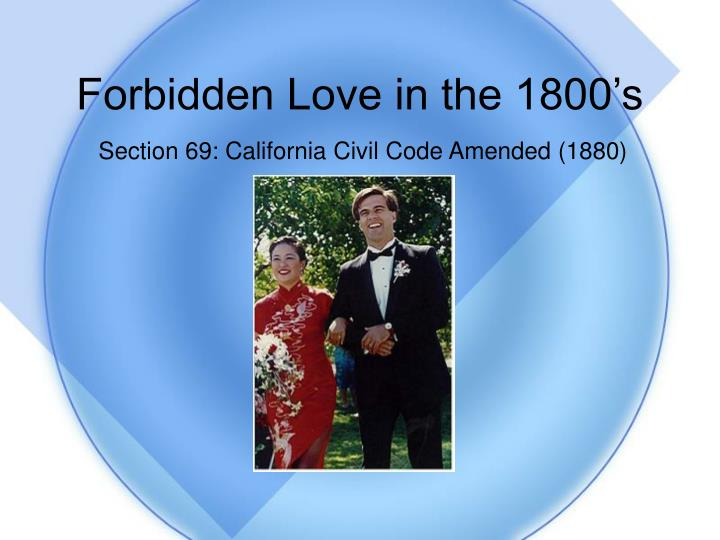 Forbidden Love in the 1800's