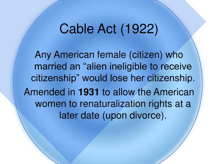 Cable Act (1922)