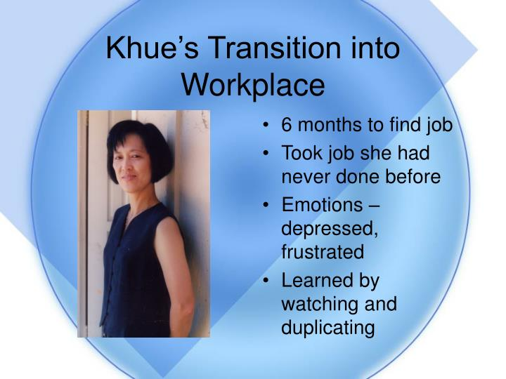 Khue's Transition into Workplace