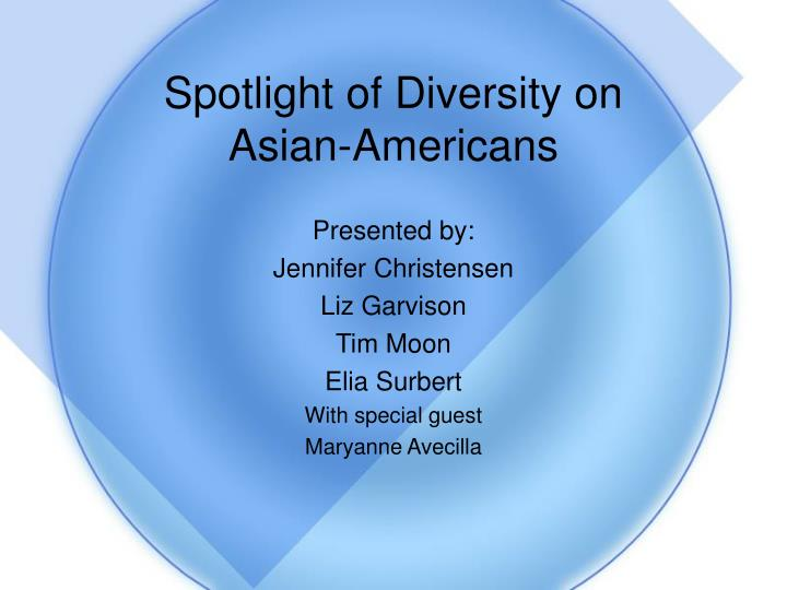 Spotlight of diversity on asian americans