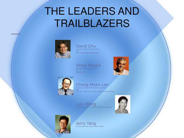 THE LEADERS AND TRAILBLAZERS