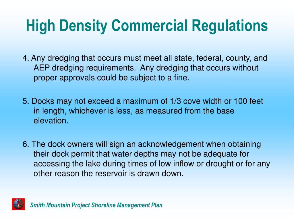 High Density Commercial Regulations