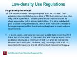 low density use regulations42