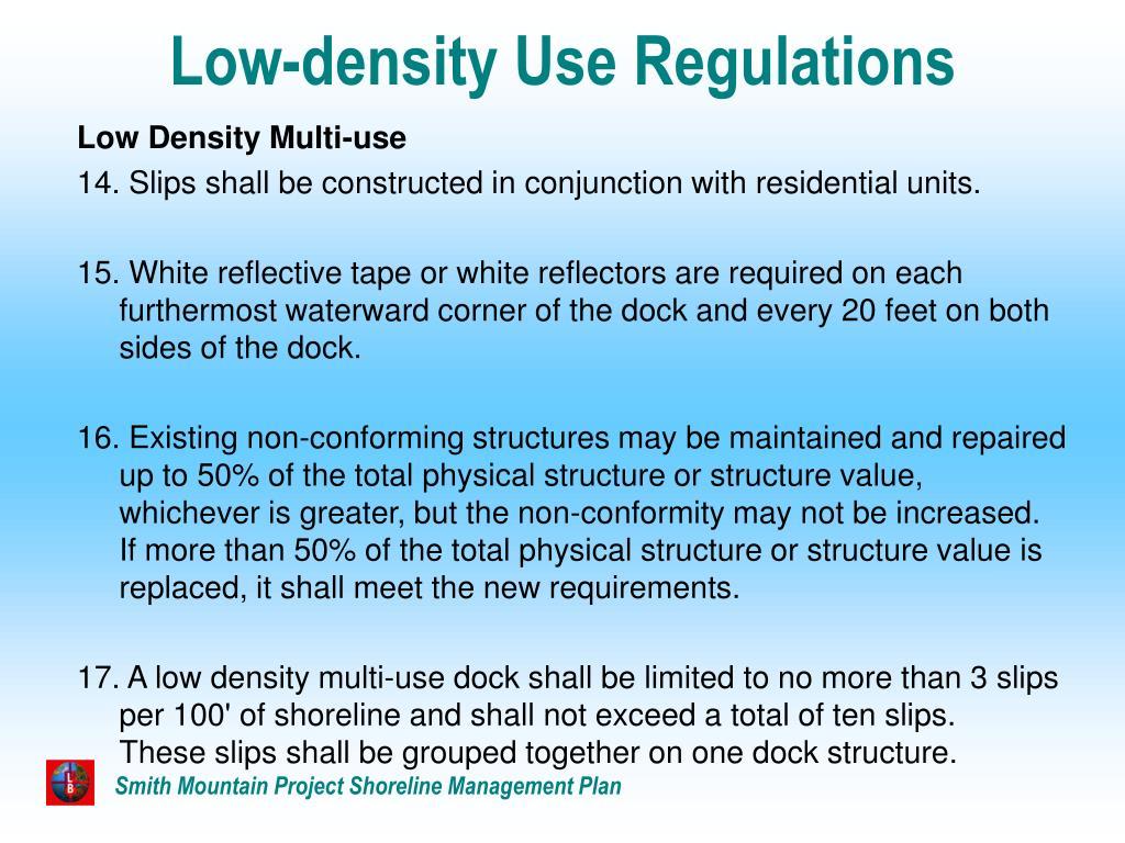 Low-density Use Regulations