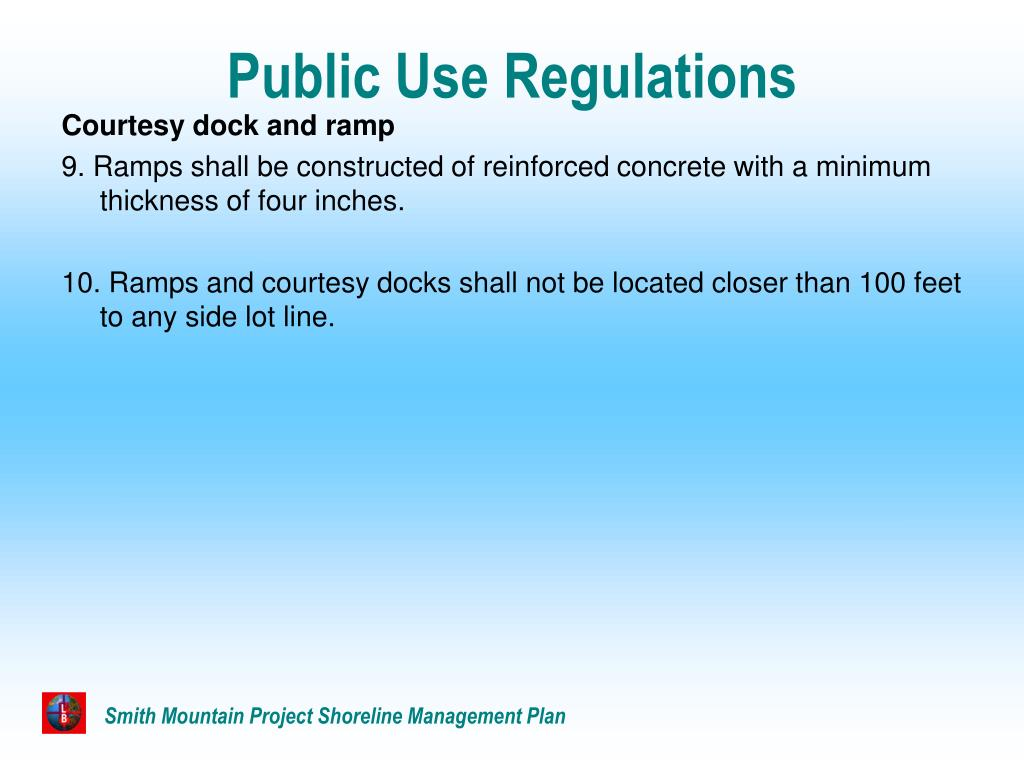 Public Use Regulations