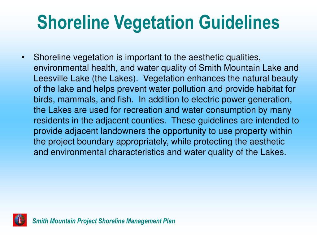 Shoreline Vegetation Guidelines