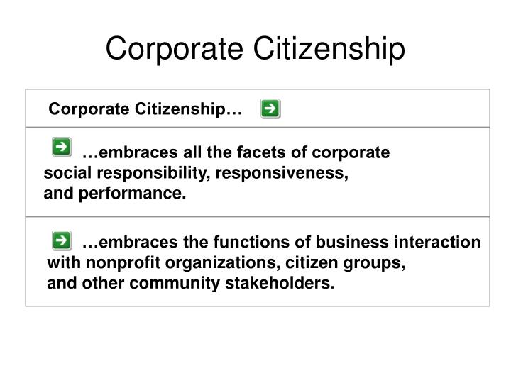 Corporate Citizenship…